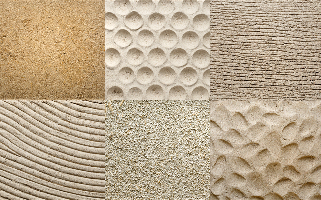 Samples of Clay Plaster Wall Finishes