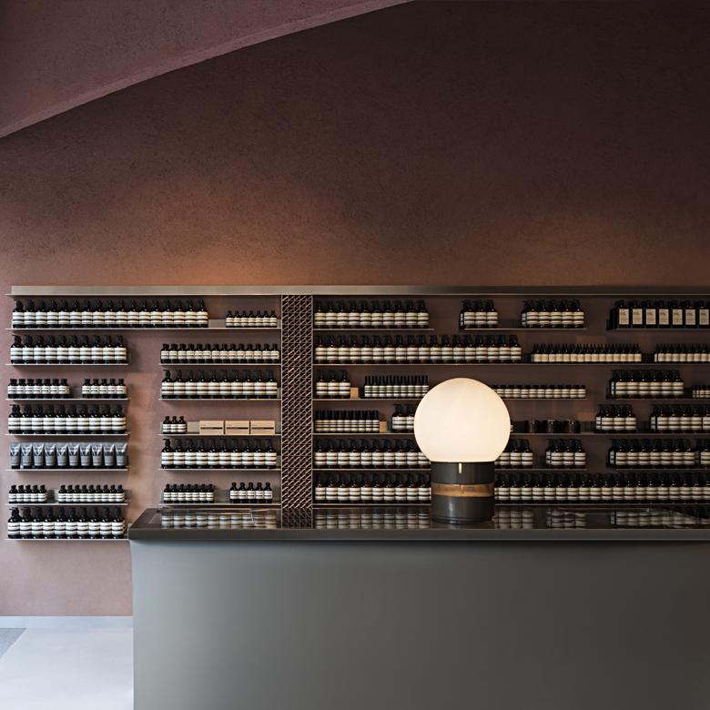 Snohetta designed Aesop store at Duke of York Square, London